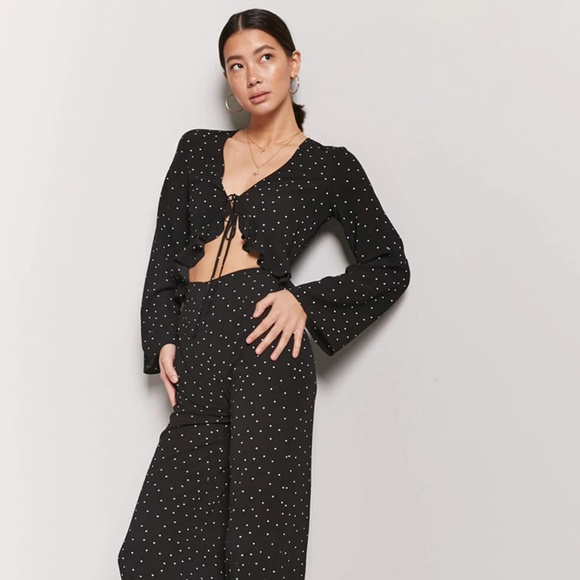 c8c3c42a40e Forever 21 Pants - Forever 21 Polka Dot Cut Out Jumpsuit Sz S